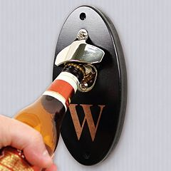 Cathy's Concepts Personalized Black Wall-Mounted Bottle Opener by