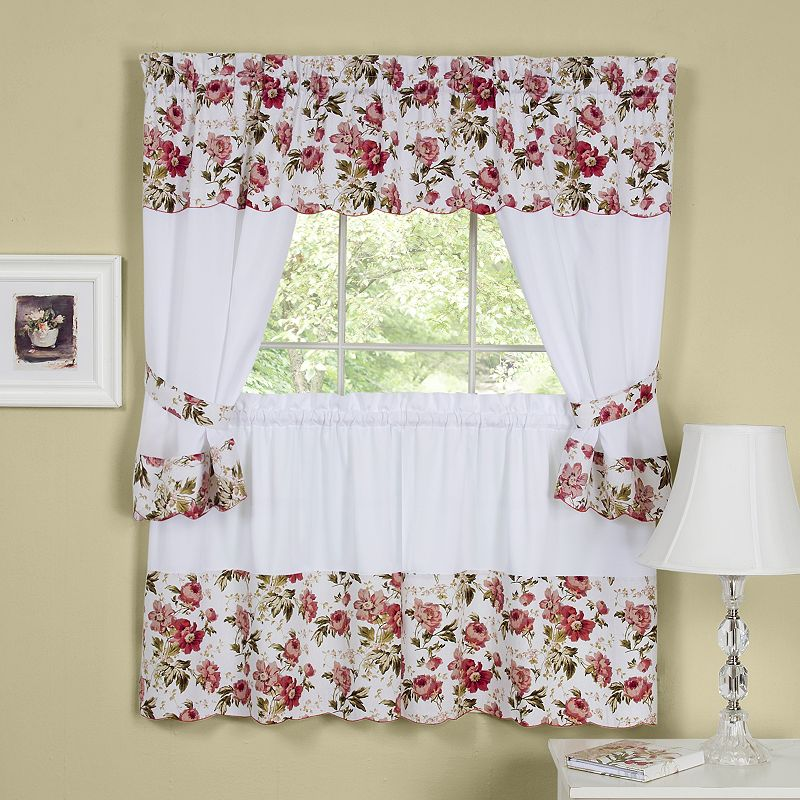 tier curtains valance 56 x 14 curtains 28 x 36 each polyester cotton