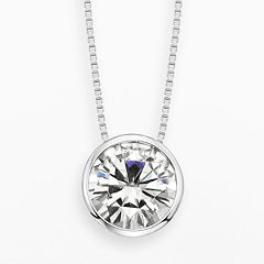 Forever Brilliant 14k White Gold 2 5/7-ct. T.W. Round-Cut Lab-Created Moissanite Pendant by