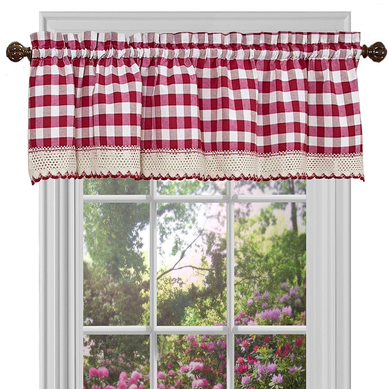 Buffalo Check Straight Valance - 58'' x 14''