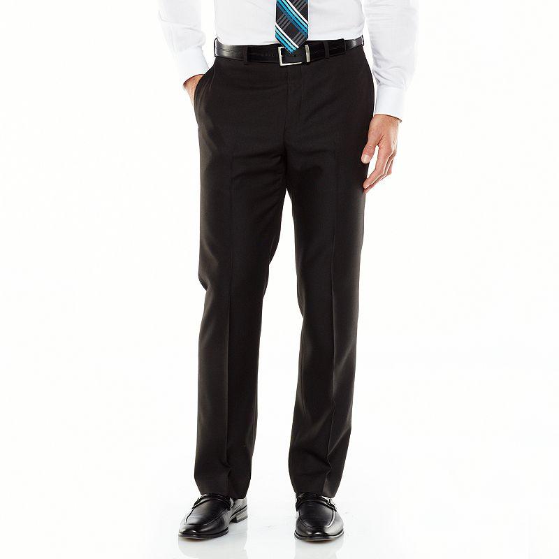 men 39 s van heusen studio modern fit black suit pants