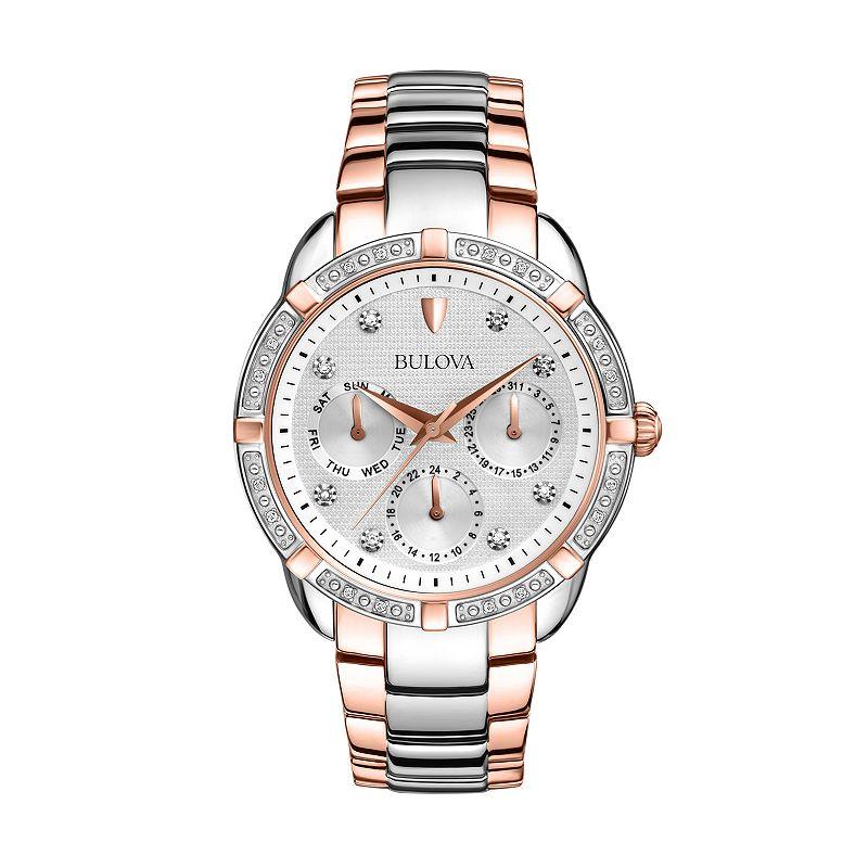 Bulova Women's Maribor Diamond Two Tone Stainless Steel Watch - 98R177