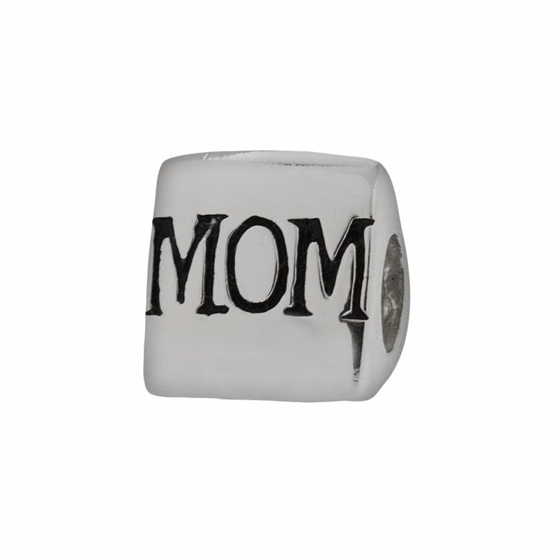 Individuality Beads Sterling Silver I Heart Mom Bead