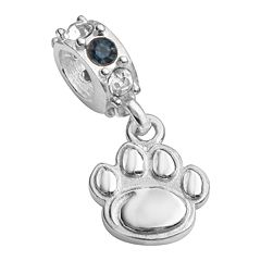 Dayna U Penn State Nittany Lions Sterling Silver Crystal Logo Charm