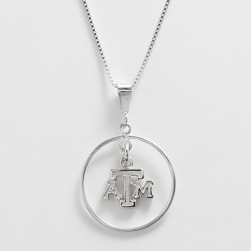 Dayna U Texas A and M Aggies Sterling Silver Logo Pendant