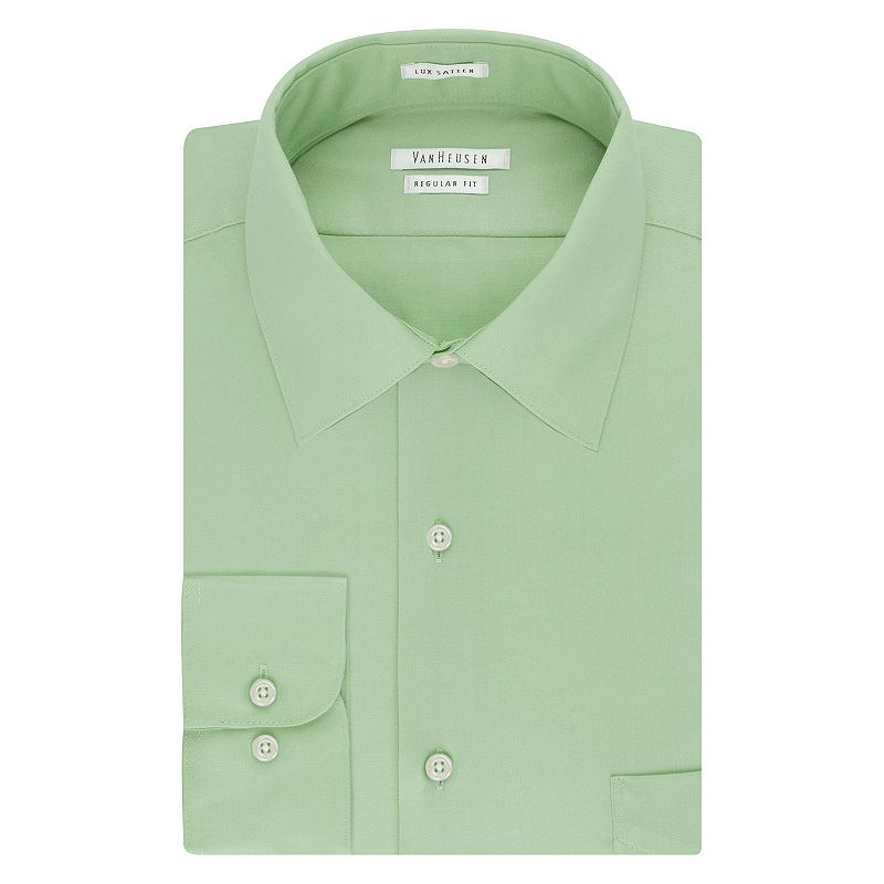 Big & Tall Van Heusen Classic-Fit Solid Easy-Care Spread-Collar Dress Shirt
