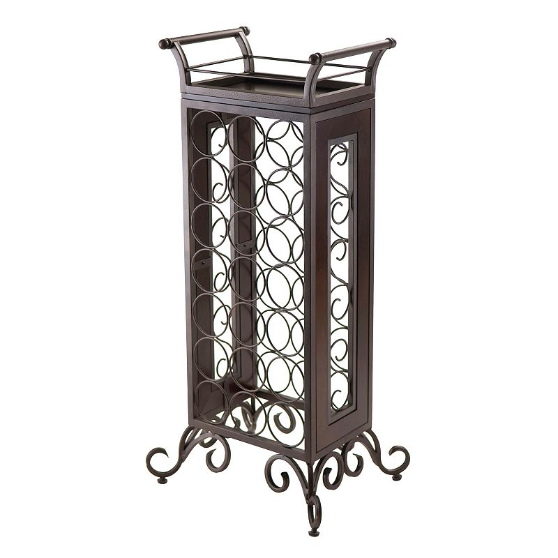 Winsome Silvano 2-pc. 21-Bottle Wine Rack & Tray Set