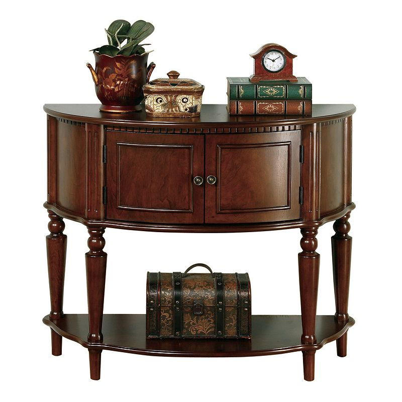 Foyer Table Jcpenney : Coaster entry table brown