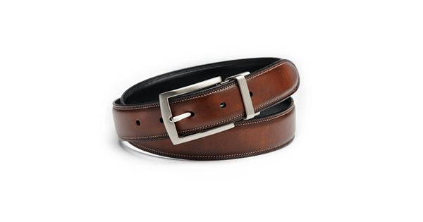 Croft & Barrow® Feather-Edge Stitched Reversible Belt