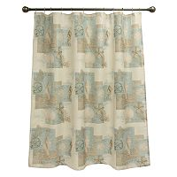 Coastal Moonlight Fabric Shower Curtain