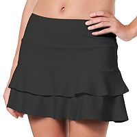 Women's Tail Doubles Ruffled Tennis Skort