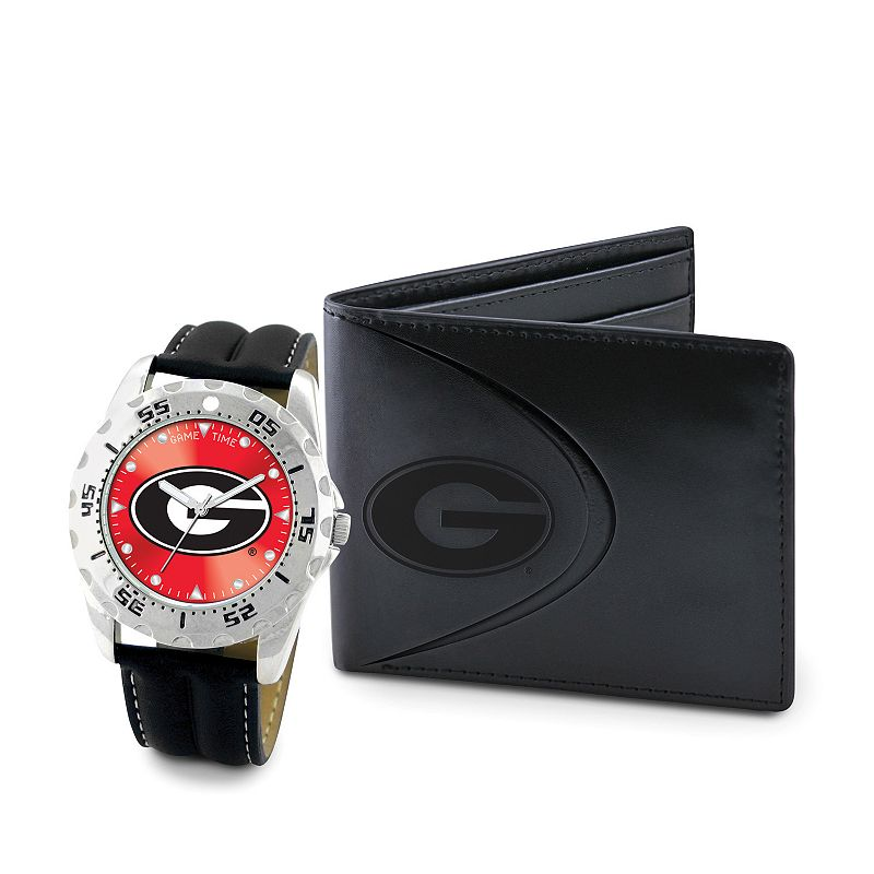 Georgia Bulldogs Watch and Bifold Wallet Gift Set