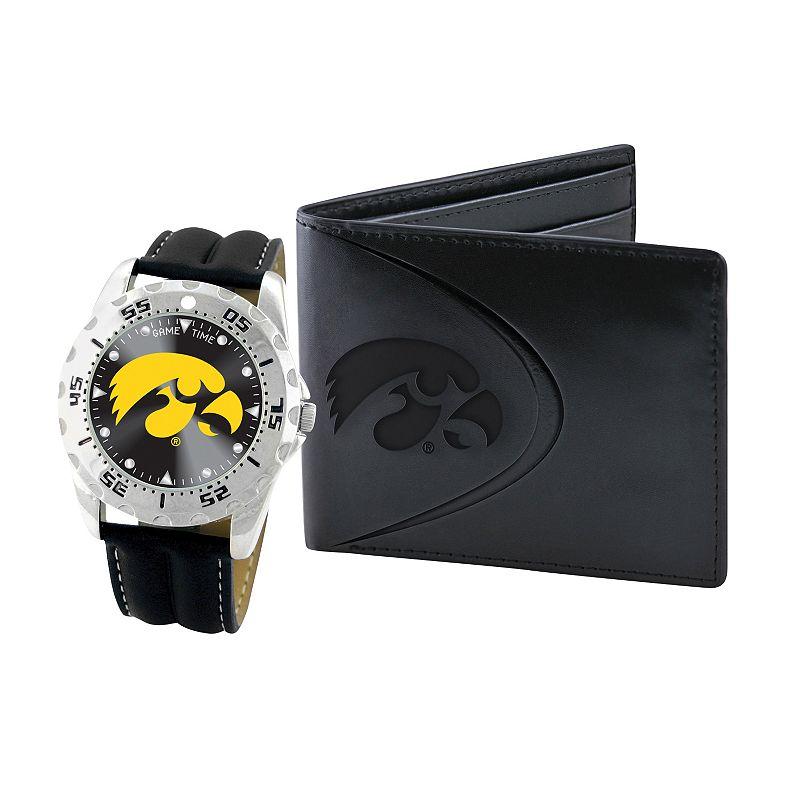 Iowa Hawkeyes Watch and Bifold Wallet Gift Set