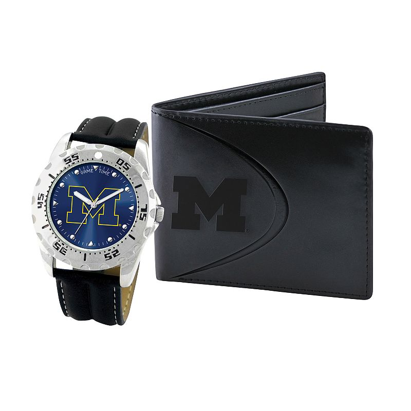 Michigan Wolverines Watch and Bifold Wallet Gift Set