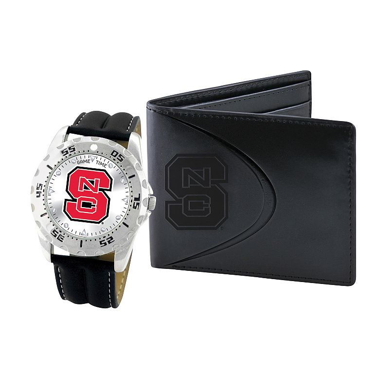 North Carolina State Wolfpack Watch and Bifold Wallet Gift Set