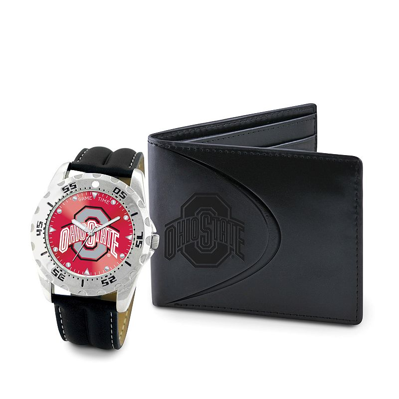 Ohio State Buckeyes Watch and Bifold Wallet Gift Set