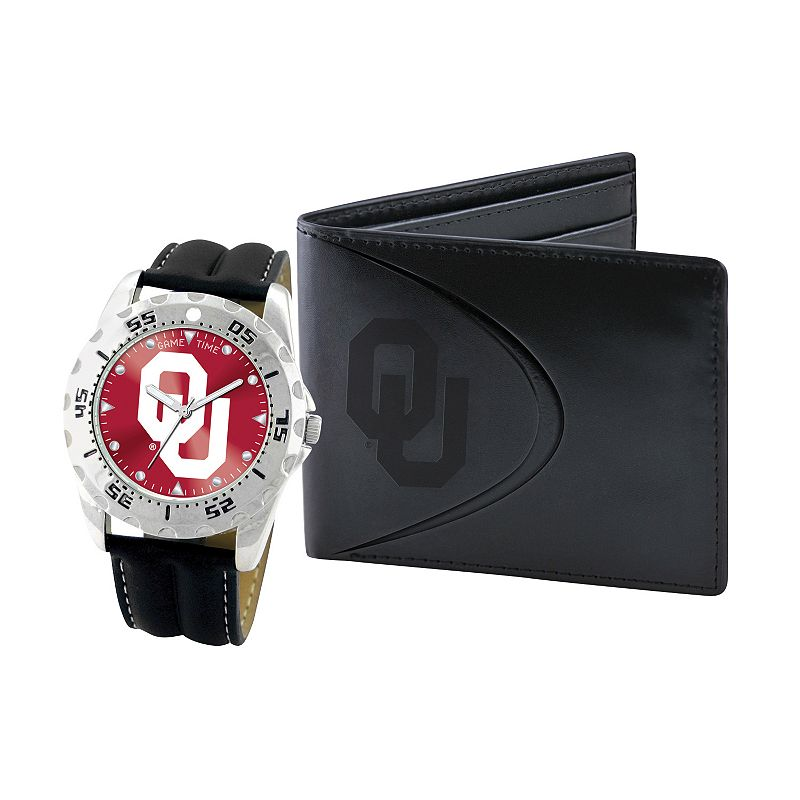Oklahoma Sooners Watch and Bifold Wallet Gift Set