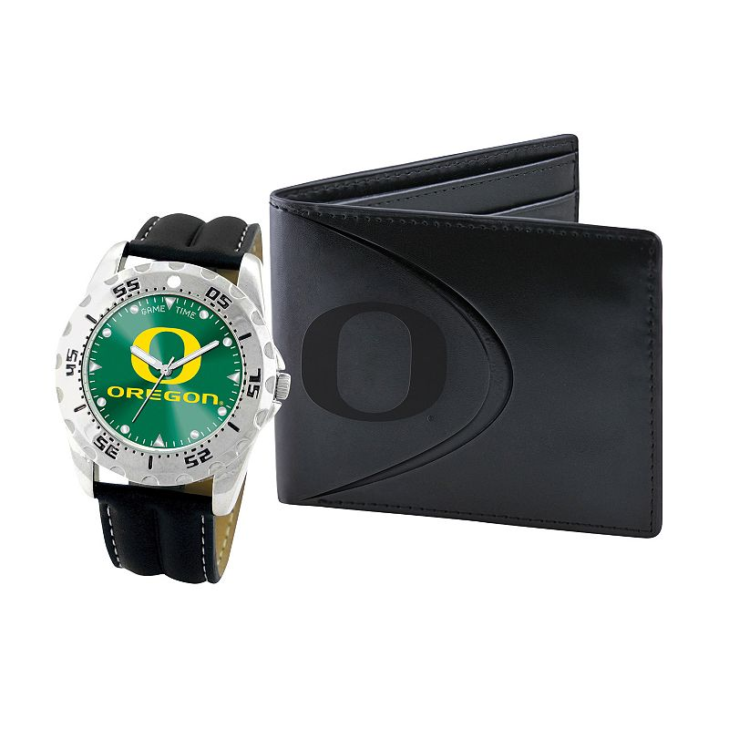 Oregon Ducks Watch and Bifold Wallet Gift Set