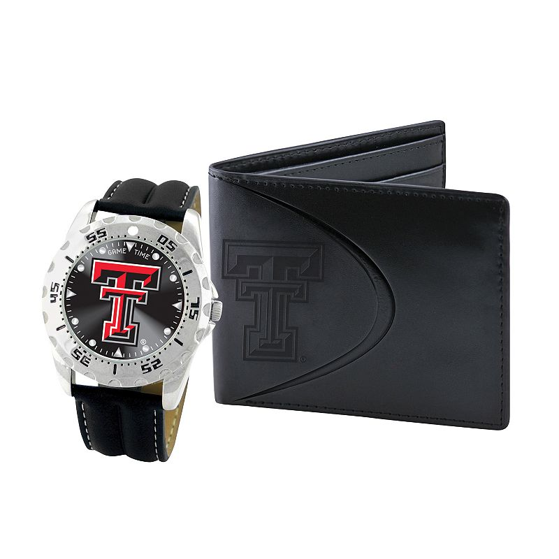Texas Tech Red Raiders Watch and Bifold Wallet Gift Set