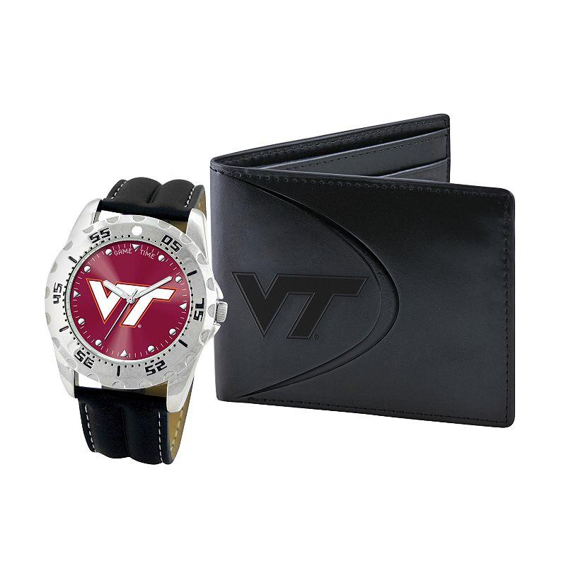 Virginia Tech Hokies Watch and Bifold Wallet Gift Set