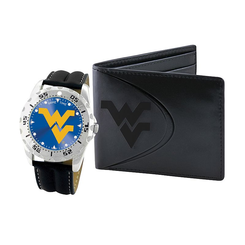 West Virginia Mountaineers Watch and Bifold Wallet Gift Set