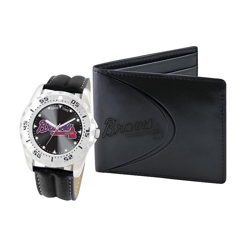 Atlanta Braves Watch and Bifold Wallet Gift Set