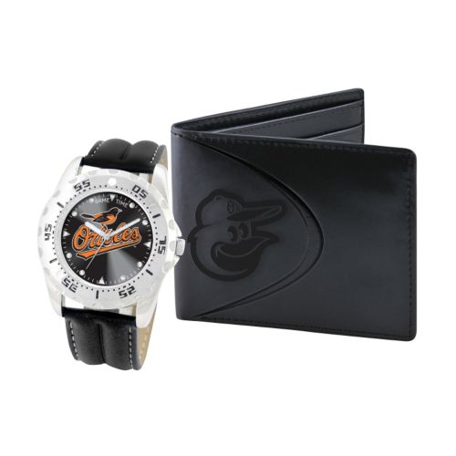 Baltimore Orioles Watch and Bifold Wallet Gift Set