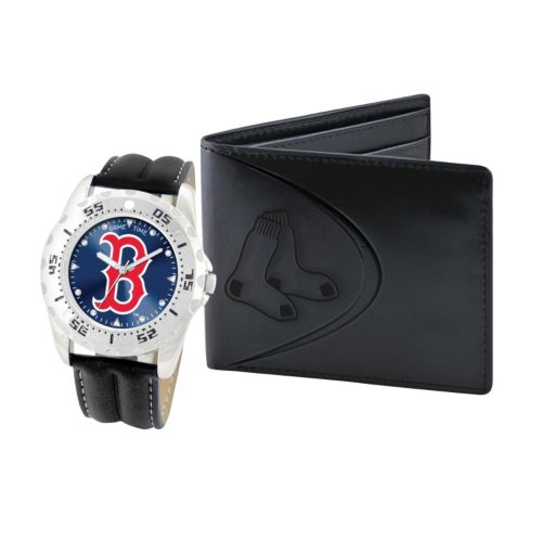 Boston Red Sox Watch and Bifold Wallet Gift Set