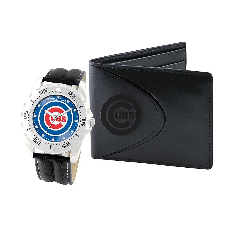 Chicago Cubs Watch and Bifold Wallet Gift Set
