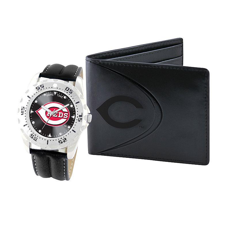 Cincinnati Reds Watch and Bifold Wallet Gift Set