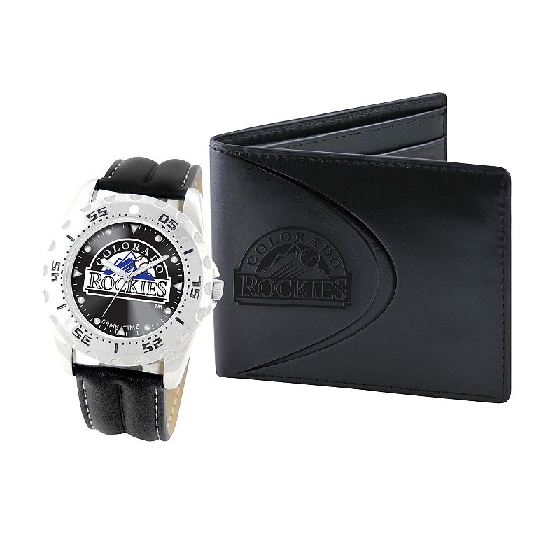 Colorado Rockies Watch and Bifold Wallet Gift Set