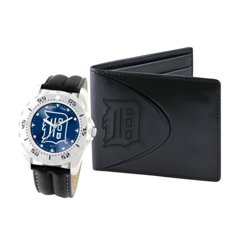 Detroit Tigers Watch and Bifold Wallet Gift Set