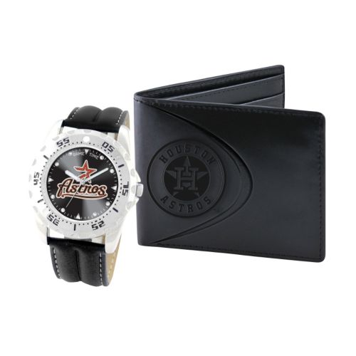 Houston Astros Watch and Bifold Wallet Gift Set