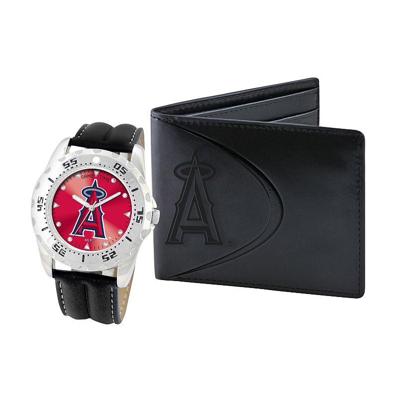 Los Angeles Angels of Anaheim Watch and Bifold Wallet Gift Set