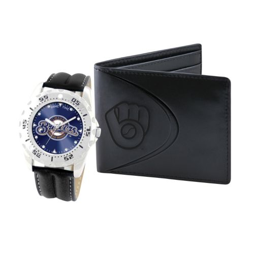 Milwaukee Brewers Watch and Bifold Wallet Gift Set