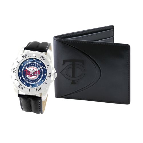 Minnesota Twins Watch and Bifold Wallet Gift Set