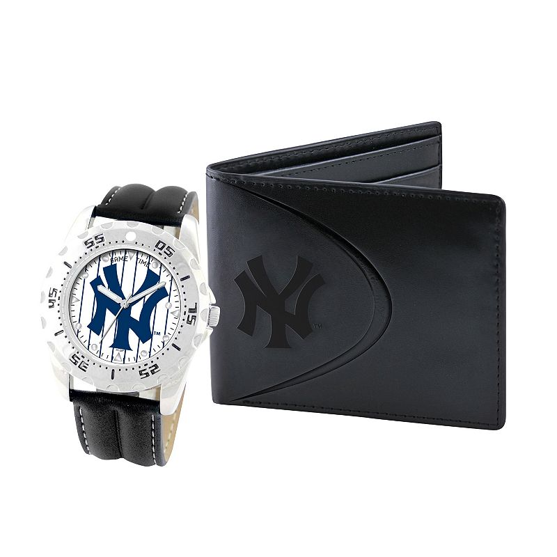 New York Yankees Watch and Bifold Wallet Gift Set