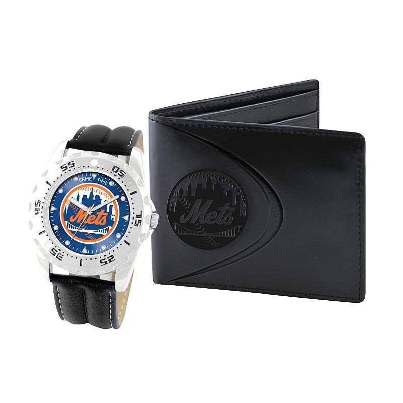 New York Mets Watch and Bifold Wallet Gift Set