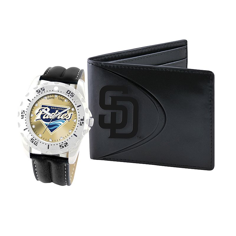 San Diego Padres Watch and Bifold Wallet Gift Set