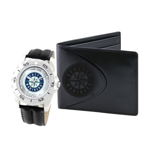 Seattle Mariners Watch and Bifold Wallet Gift Set