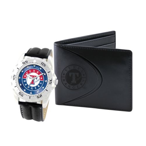 Texas Rangers Watch and Bifold Wallet Gift Set