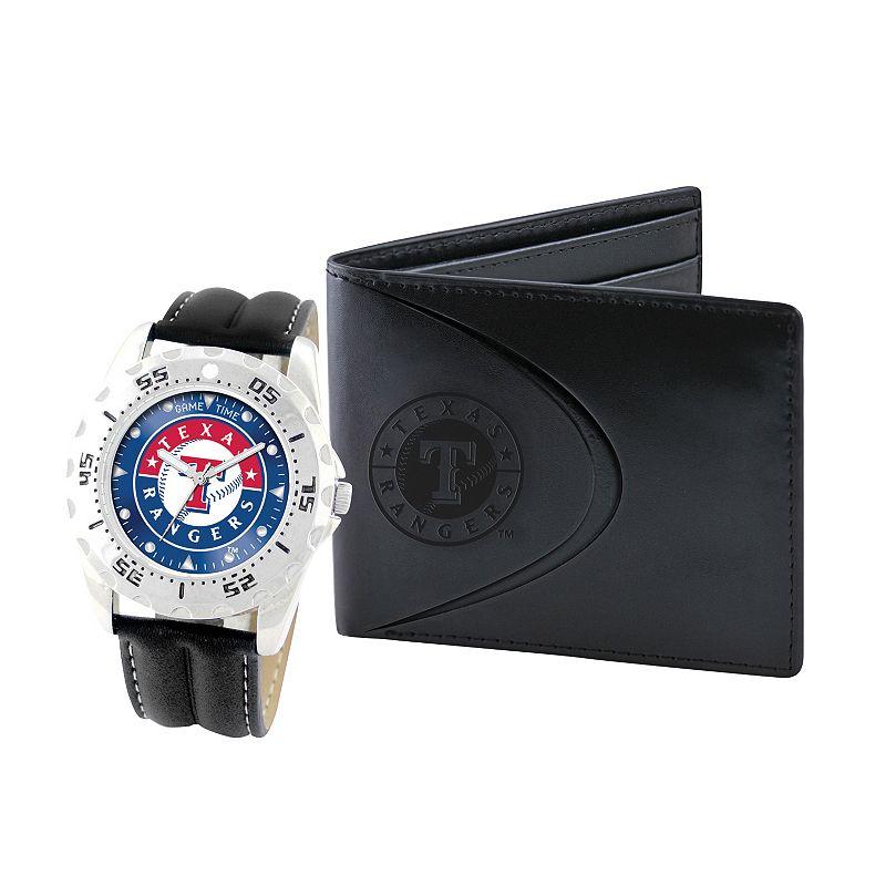 Texas Rangers Watch and Bifold Wallet Gift Set