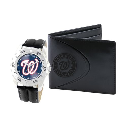 Washington Nationals Watch and Bifold Wallet Gift Set