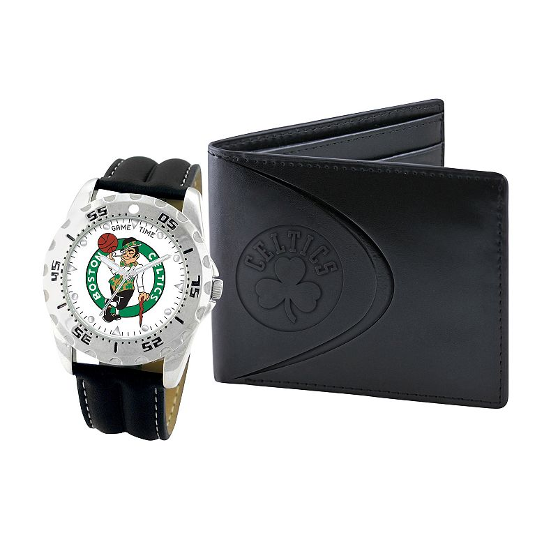 Boston Celtics Watch and Bifold Wallet Gift Set