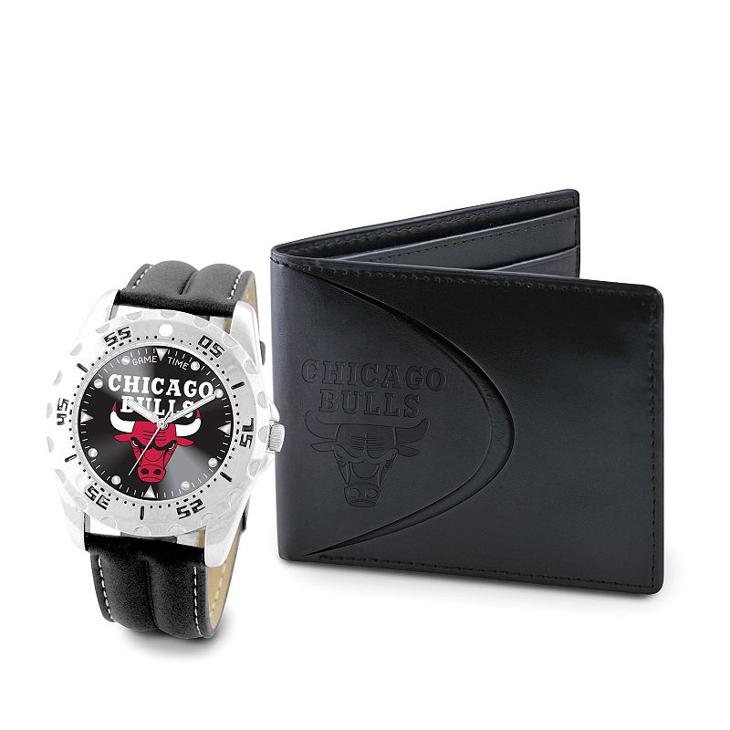 Chicago Bulls Watch and Bifold Wallet Gift Set