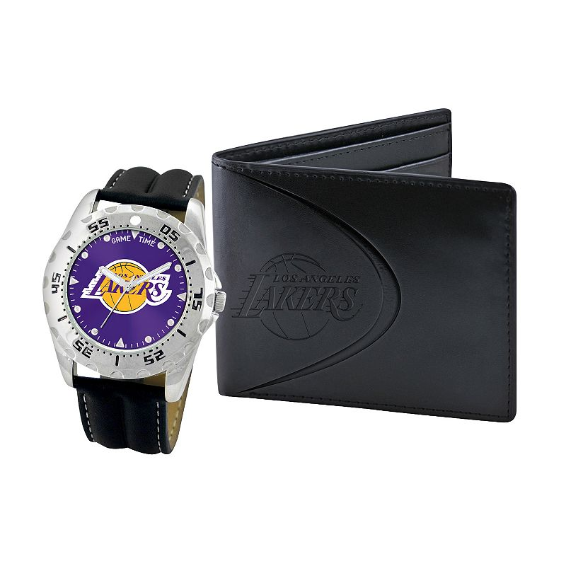 Los Angeles Lakers Watch and Bifold Wallet Gift Set