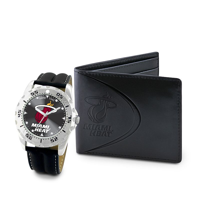 Miami Heat Watch and Bifold Wallet Gift Set