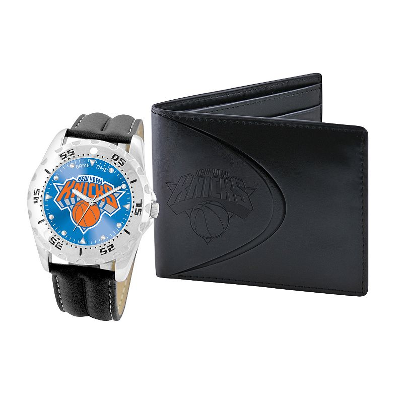 New York Knicks Watch and Bifold Wallet Gift Set