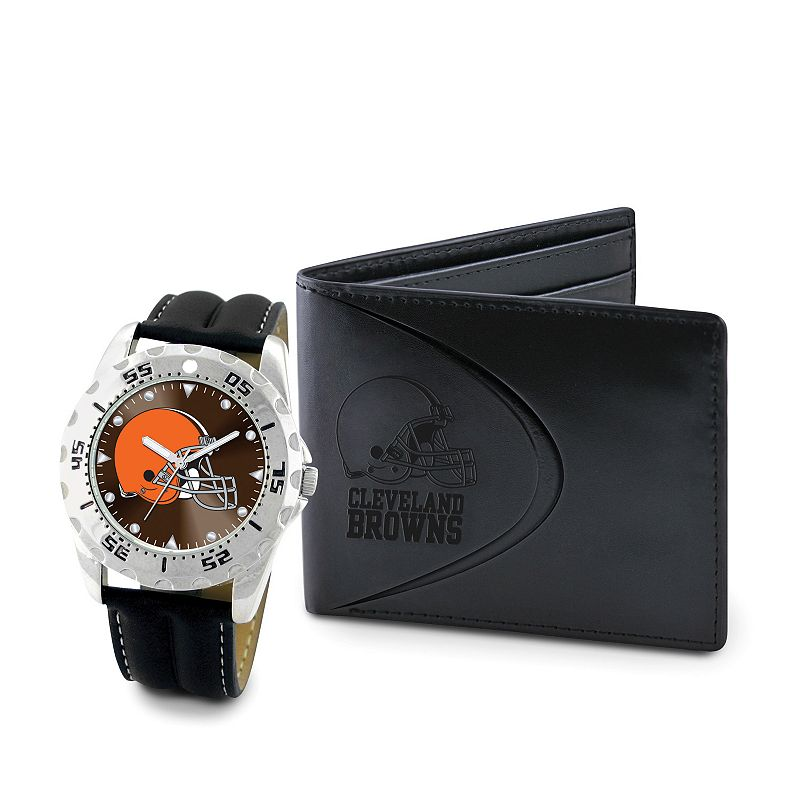 Cleveland Browns Watch and Bifold Wallet Gift Set