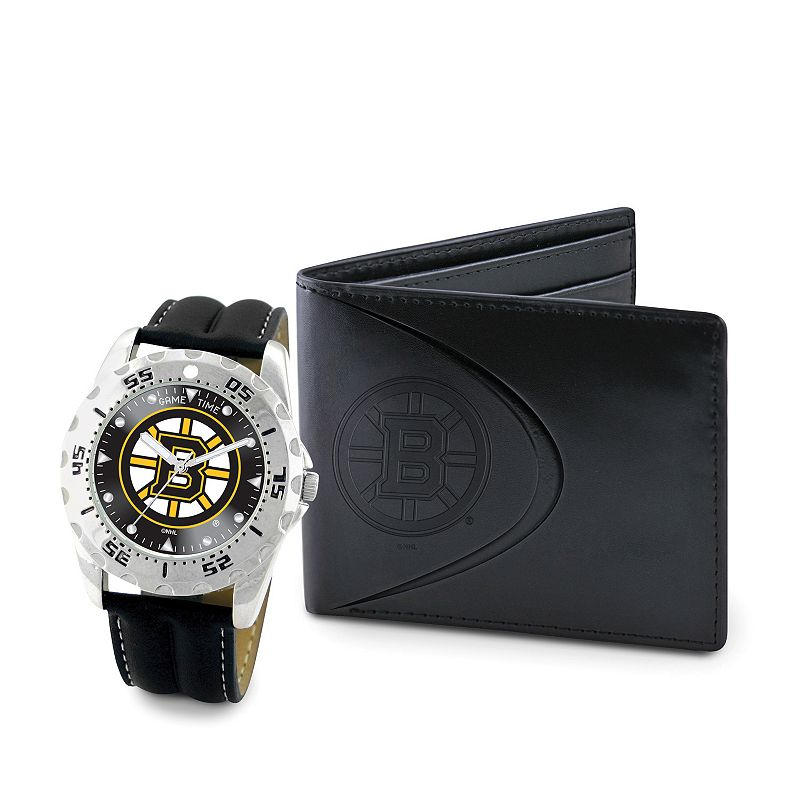 Boston Bruins Watch and Bifold Wallet Gift Set